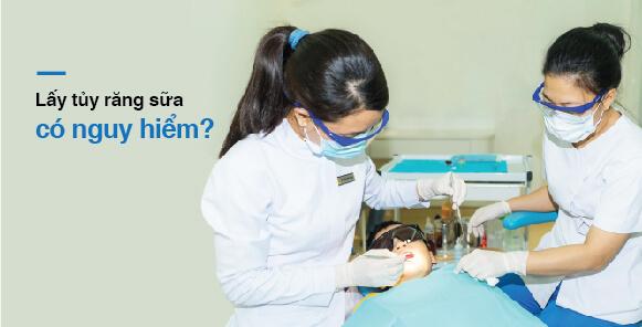 Lấy tủy răng sữa không nguy hiểm tại nha khoa Westcoast