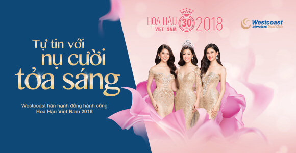 Westcoast tài trợ cho Hoa hậu Việt Nam 2018