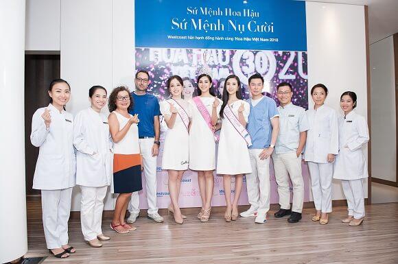 top 3 hoa hậu đến thăm khám và trao đổi về việc đồng hành thực hiện chương trình Sứ mệnh Hoa hậu – Sứ mệnh nụ cười