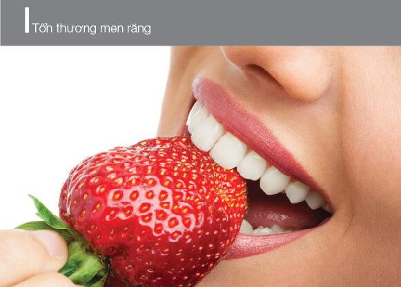 men răng bị yếu dần cũng là nguyên nhân răng bị ố vàng