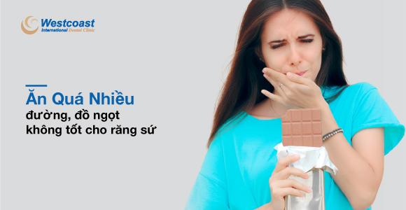 ăn nhiều đường gây hại cho răng