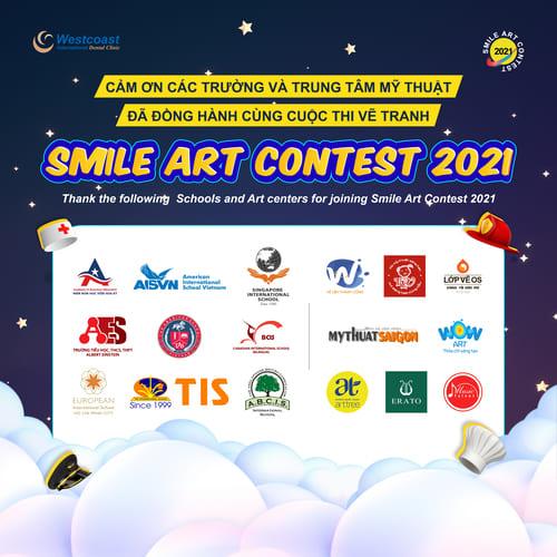 Smile Art Contest 2021 Các trường và trung tâm vẽ đồng hành